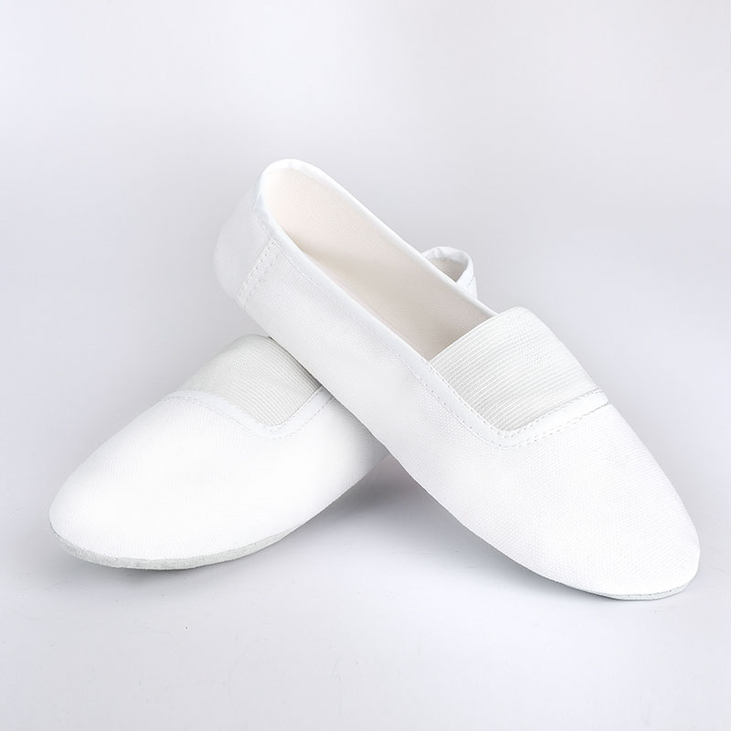 USHINE EU22-45 Indoor Upgrade White Body-shaping Flat Yoga Teacher Fitness Gymnastic Ballet Dance Shoes Children Woman Man