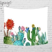 5sizes Cactus Watercolor Hanging Wall Tapestries Mandala Bohemian Tapestry Landscape Wallpaper Art Shawl Throw DropShipping