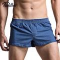 Taddlee underwear trunks boxeadores de los hombres de marca de alta calidad de algodón para hombre ropa de noche atractiva casa diseñada para hombre boxers calzoncillos
