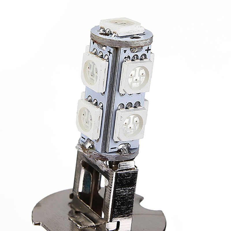 1PC DC 12V H3 5050 9 LED לפינה מנורת ערפל ראש אור מנורת הנורה טהור צהוב