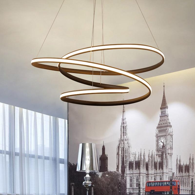 modern led lustre pendant lights for living room dining room bar kitchen suspension luminaire. Black Bedroom Furniture Sets. Home Design Ideas