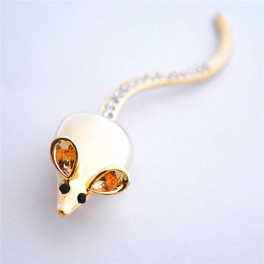 New Hot Fun Coda lunga Little Mouse Spille Pin Up Donne dei monili Vestito Cappelli Clip Corpetti Marca Bijoux Spilla Bigiotteria Golden