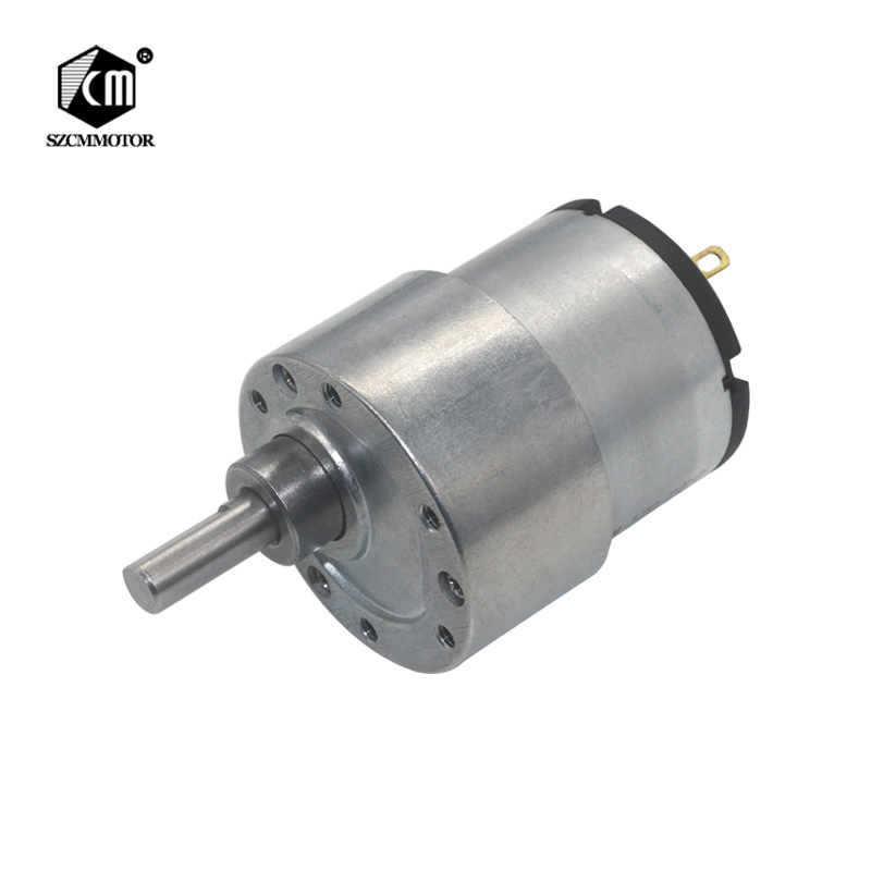 37mm Diameter Gearbox Eccentric Shaft Large Torque Speed Reduction Gear Motor with Metal Gearbox gear geared motor 12v/24V shaft diameter 6mm x 15mm dc 12v 20 rpm speed 6mm dia shaft magnetic gearbox electric geared motor 37mm x 86mm