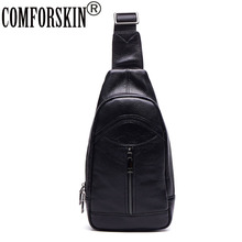 2017 New Arrivals Soft Cowhide Genuine Leather Fashion Casual Zipper Men Messenger Bags Black Color Shoulder Handbags