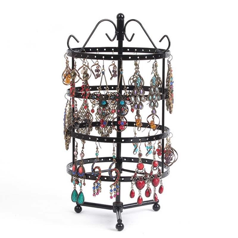 Holes Revolving Jewelry Display Rack Earring