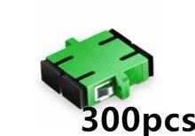 цена на 300pcs SC APC Adapter Singlemode Duplex Plastic Fiber Optic Coupler Flange Fiber Optic Connector