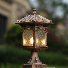 Europe pillar lamp garden boundry light outdoor courtyard fence villa pillar lights balcony corridor column eclairage exterieur