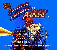 Captain America And The Avengers - Sega Mega Drive For Genesis 1