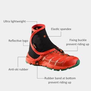 Image 5 - 1 Pair Outdoor Scarpe Coprono la Caviglia Ghetta di Sabbia di Protezione Ghetta Basso Trail Ghetta Delle Donne Degli Uomini di Corsa E Jogging A Piedi Maratona Ghette