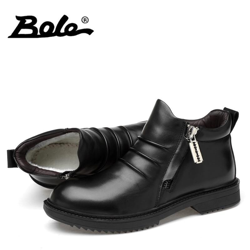 46 Botas Plush Bole De Formal Diseño Felpa Cuero 4 Cm Zapatillas Tamaño 36 Genuino Invierno no Plush Altura Gran Hombres Nuevo Aumento ggwt1qv