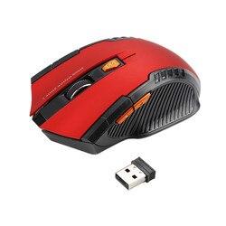 2018 Novo Mouse Sem Fio 1600 DPI 2.4G Jogo Do Rato Laser Do Mouse Gamer Silêncio Bateria Embutida Computador Ratos Para PC Laptop