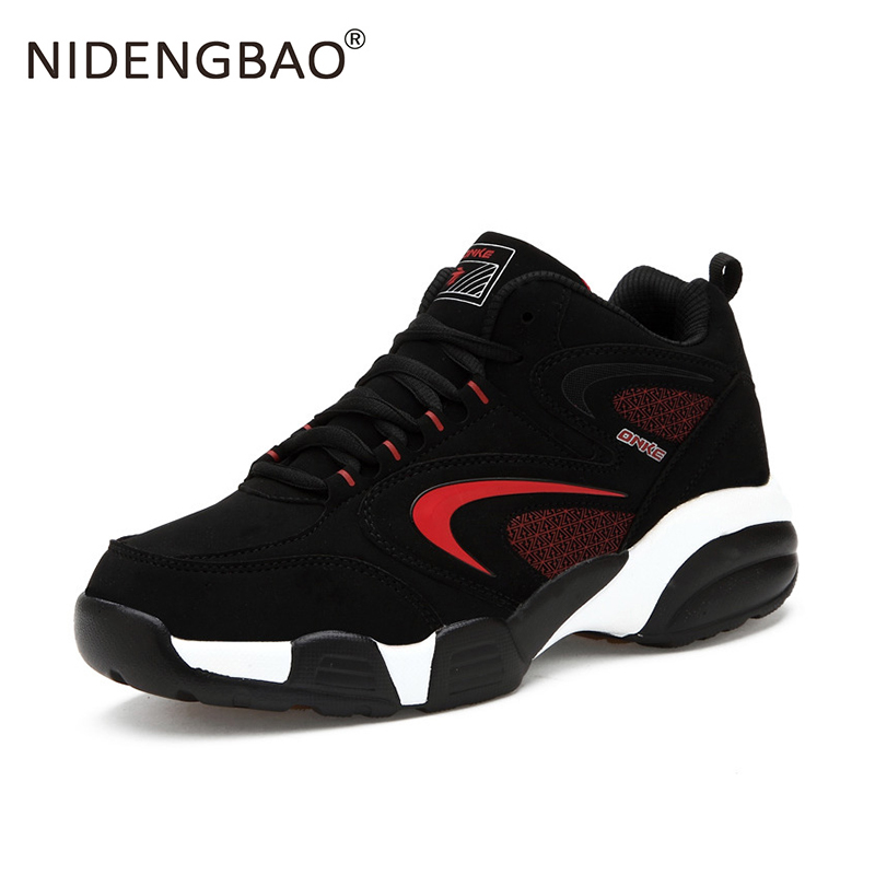 New Men Running Shoes Couple Lovers Sneakers Lace Up Solid Black Outdoor Sport Footwear Leather Wear Resistance Walking Shoes