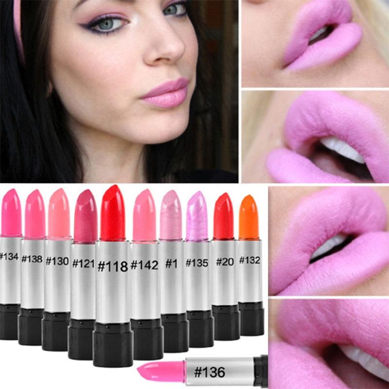 2016 Maquiagem Famous Brand Korea Makeup Full Size Baby Pink Lipstick For Women Lips Make Up Health Waterproof Lipstick Batom  feature phone