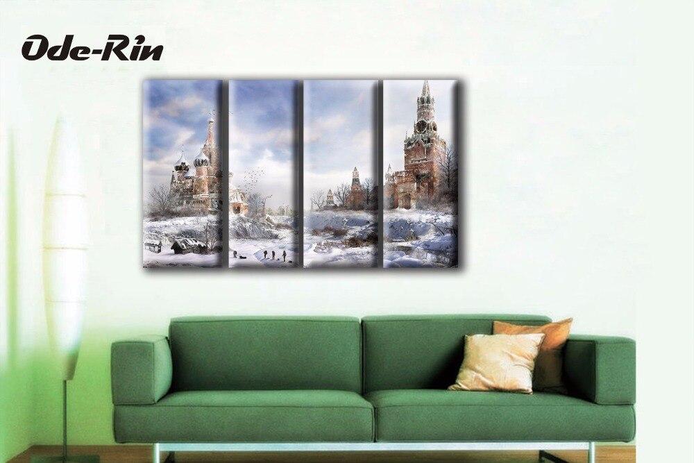 ①Ode-rin cuadros de pared para sala volver a los antiguos 4 ...