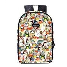 2016 New Children School Bag Cartoon Owl Printing Backpack Unisex Kids Backpack Casual Bags Backpacks For Teenage School baggage