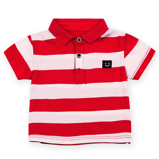 d01e44941 Boys Girls Striped Summer Polo Shirts New Baby Boy Clothes Kids Polo Size 2  3 4 5 6y Children Clothing Boys Polos Child Brand