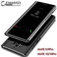 For HUAWEI MATE 10 Case Original Mirror Flip Cover Clear View Smart MATE10 Pro MATE9 MATE