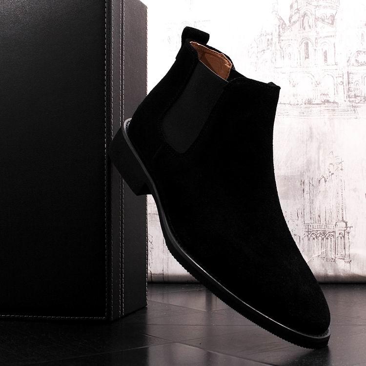 En Moda Alta Hombre Los Negro De Zapatos Ocio 38 Marrón Chelsea khaki 44 Casuales Top Nobuck Botas Lujo Errfc Slip Negro Hombres Invierno 54zP4nq