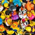 6 шт. Лот Игрушки Детская Ванночка Бассейн Плавать Резиновая Утка Для Детей Водные Игрушки Плавание Игрушки Badspeelgoed