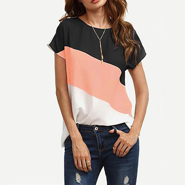 Women's Short Sleeved Casual Blouse (4 Colors)