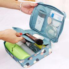 New Waterproof Nylon Zipper Women Makeup Bag Cosmetic Toilet