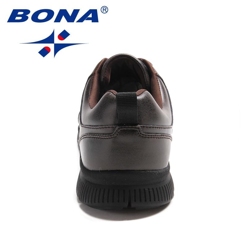 Купить с кэшбэком BONA New Arrival Popular Style Men Casual Shoes Lace Up Men Flats Microfiber Men Shoes Comfortable Light Soft Fast Free Shipping