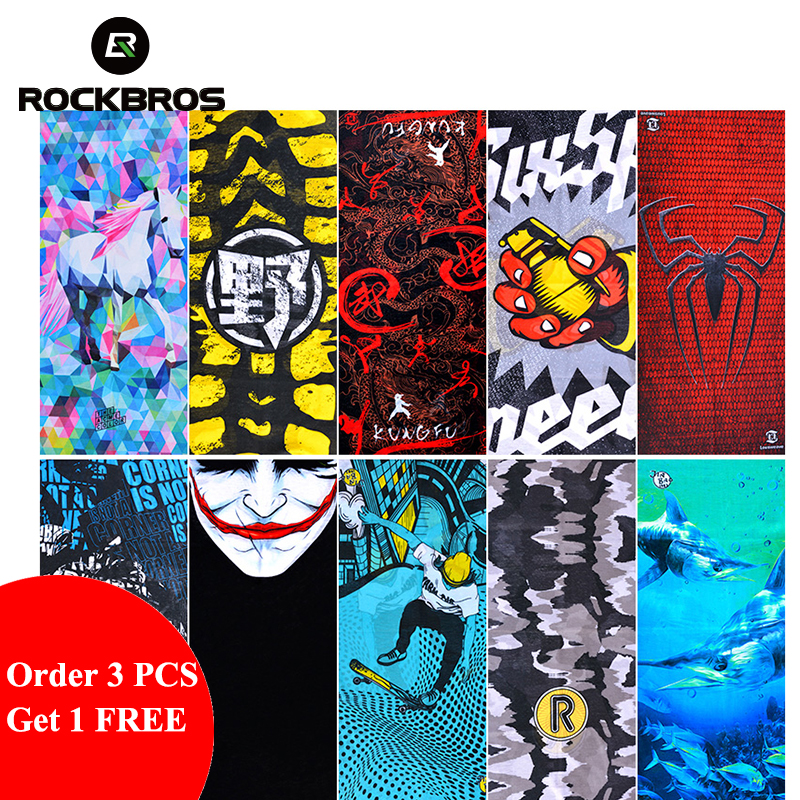 ROCKBROS 3 Get 4 Bicycle Bandana Scarf   Headwear   Bike Windproof Dust-proof Mask Hairband Wrist Headband Cycling Bike Equipment