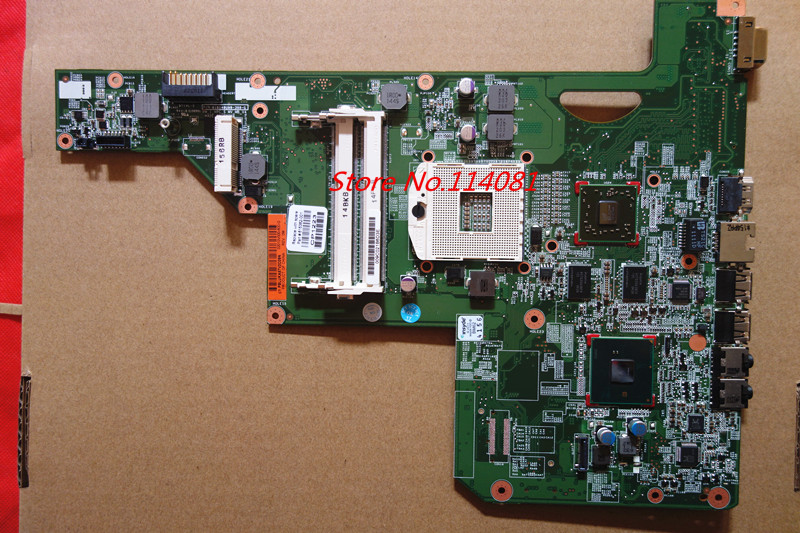 ФОТО 615381-001 512M For hp G62 Laptop Motherboard HM55 DDR3 Tested before send with good package