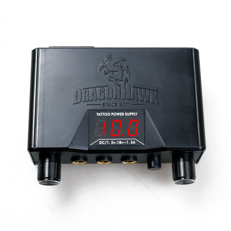 """Dragonhawk Lcd Dual Tattoo Machine Gun Power Supply"""
