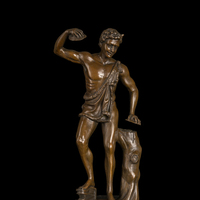Wholesale Retail Modern Western Classical Copper Man Statue Bronze Figurines For Home Decoration Cz 211