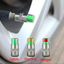 1/2/4PCS 36PSI 자동차 자동 타이어 압력 모니터 타이어 게이지 경고 센서 표시기 밸브 캡 표시기 진단 도구 키트