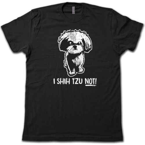 Я Ших TZU нет! Футболку. Забавная собака пародия Пун и Штик тройник!