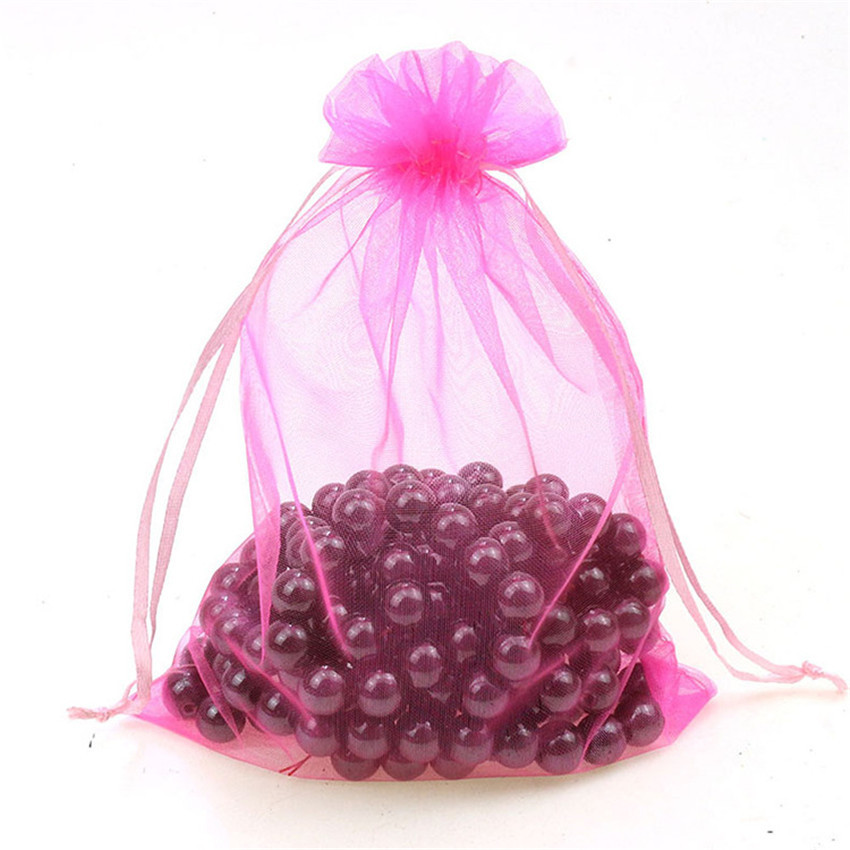 25pcs 20x30 25x35 30x40 35x50cm Organza Bag Wedding Gift