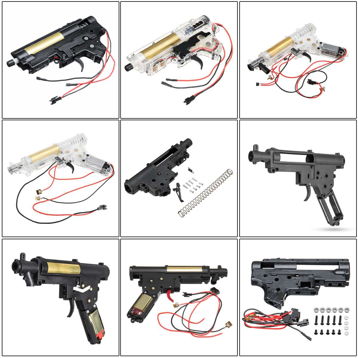 Nylon Gearbox For Jinming 8Th SCAR V2 For STD 6th For NWELL M4 MKM2 Gel Ball Blastering Toy Guns