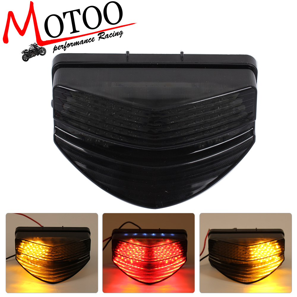 Motoo - Motorcycle LED Rear Turn Signal Tail Stop Light Lamps  For Honda CBR600 F4I  01-07