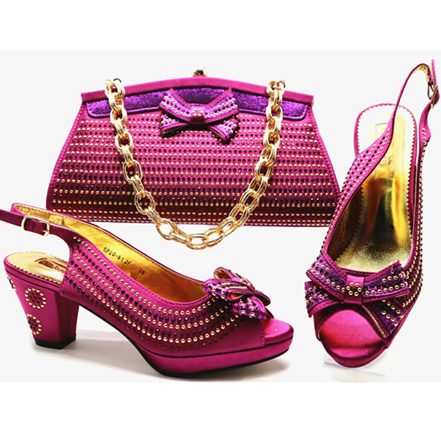 New Arrival Italian Shoes with Matching Bags for Wedding Italy Shoes and Bag Set for Party In Women Nigerian Shoes and Bags