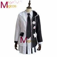 Anime Danganronpa Monokuma Personification Uniform Cosplay Party Costume Dress Full Set Custom Made