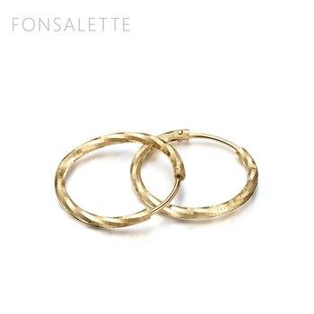 Fashion 18K gold Hoop Earrings Women Jewelry Silver Earrings Jewelry Round Circle Loop earrings Diamond Cut Earrings Zk30 2
