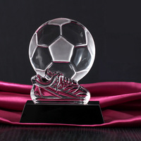 Football Boot Shoe Trophy Replica Crystal Soccer Award Football Club Fans Souvenirs