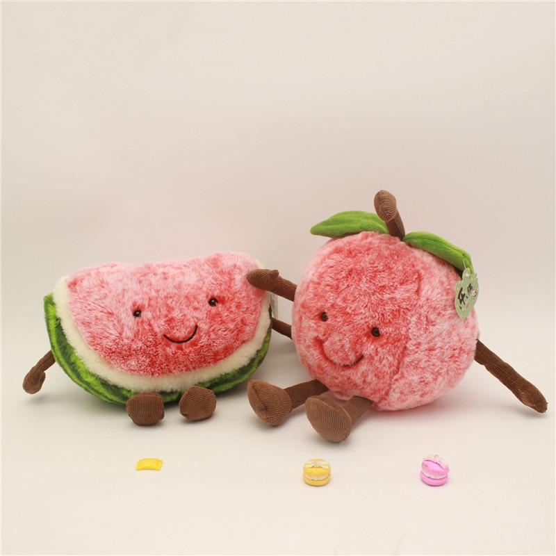 30 Cm Watermeloen Cherry Zachte Pluche Pop Speelgoed Cartoon Kawaii Vruchten Gevulde Creatieve Kussen Voor Meisjes Kids Geschenken Home Decoratie