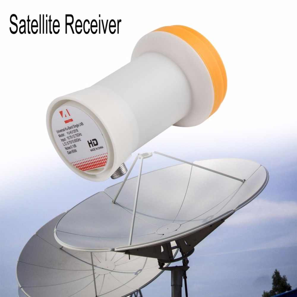 Universele Ku-Band Enkele LNBF 9.75/10.6KU Dual Output Full HD Digitale KU LNB Satellietontvanger Hoge Band lage Band