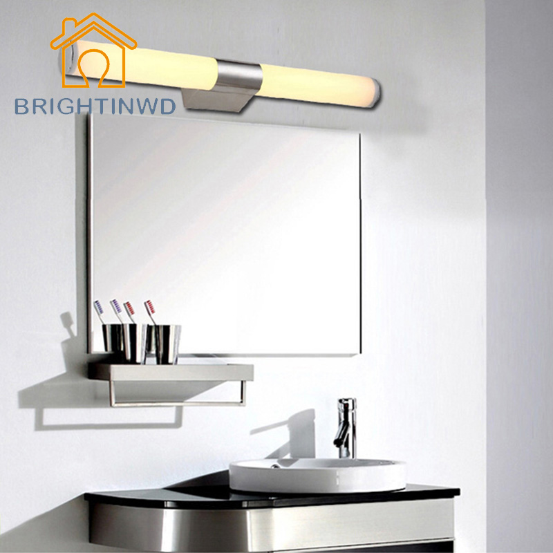 Marvelous Modern Style LED Wall Lamp 110V 220V Acrylic Bathroom Mirror Spot Light 8W  10W LED Tube
