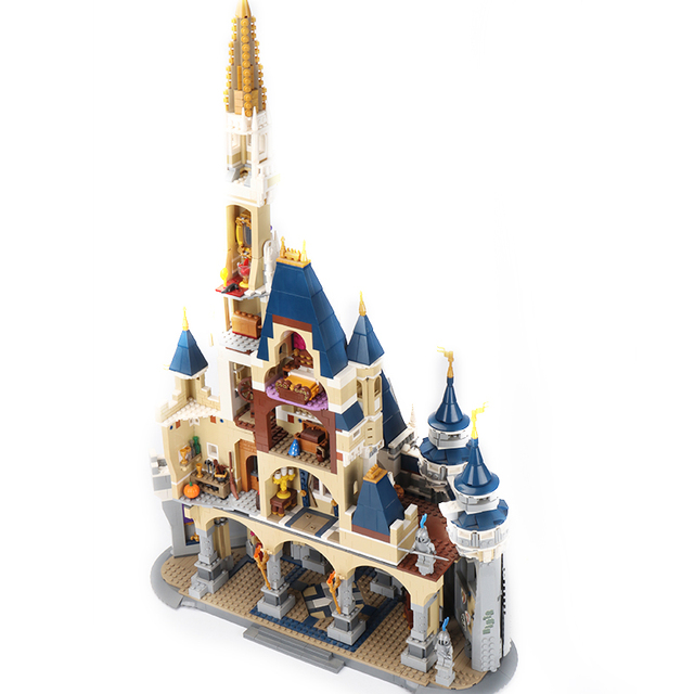 16008 the Cinderella Princess Dream Castle fit legosg 71040 Toys Model Building Block Bricks DIY Educational Birthday Kids Gift 1