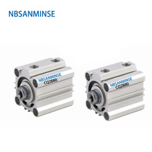 NBSANMINSE CQ2B 80mm Bore Compact Cylinder SMC Type Double Acting Pneumatic ISO compressed Air Cylinder  Automatic parts compressed air cj2b 16 bore size iso air cylinder single acting spring return extend double acting pneumatic parts sanmin