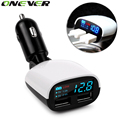 12V 2.4A+1A Dual USB Car Charger Adapter LED Voltage MonitorDisplay Car-Charger For iPhone 5 6 6S Ipad Samsung S5 S6 Car Charger
