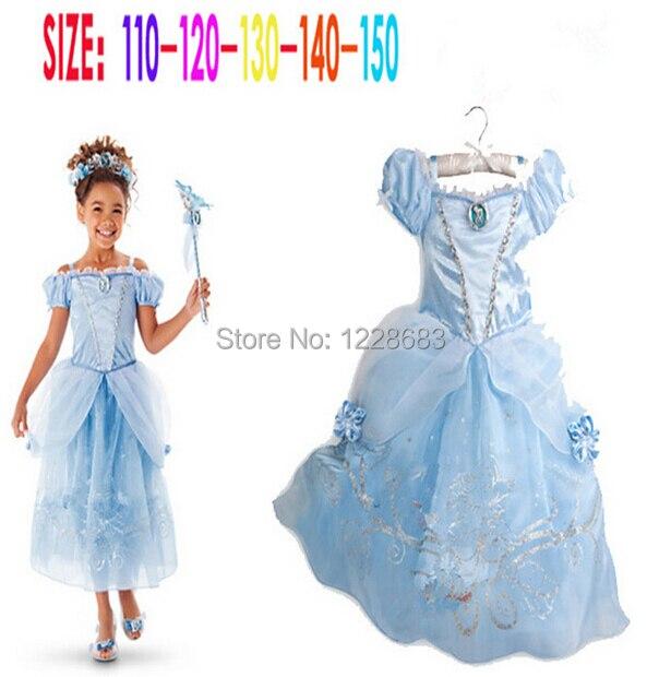 7312c3553 Fantasias Infantis Kids New Summer Fancy Party Dress Fantasy Child Vestido  Cinderela Girls Cinderella Dresses