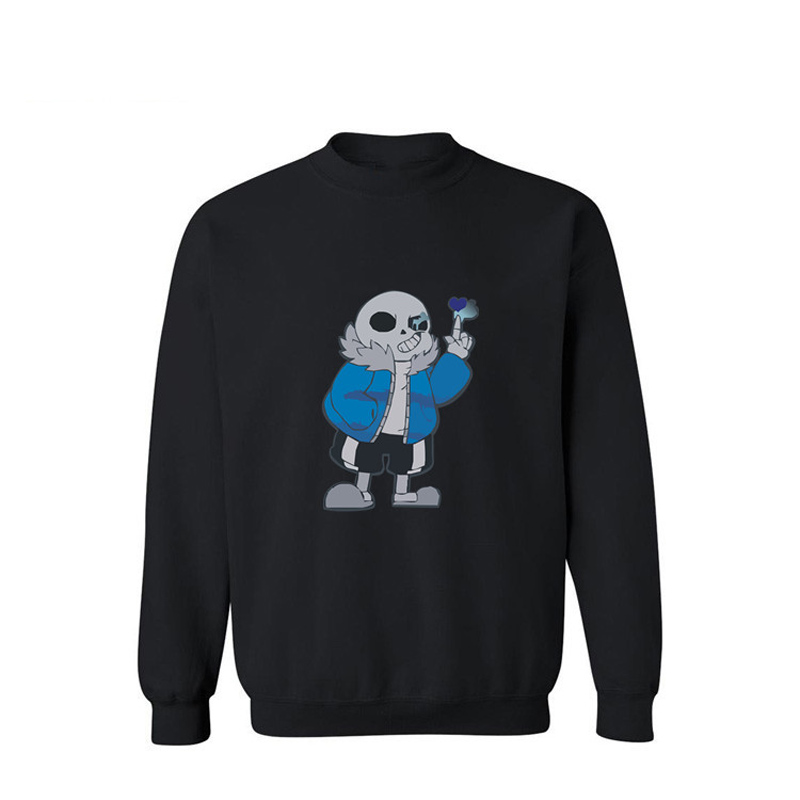 Men's Clothing Cartoon Skeleton Pattern Mens Hoodies And Sweatshirts 2016 Black/gray Streetwear Sweatshirt Men Luxury Xxl 3xl