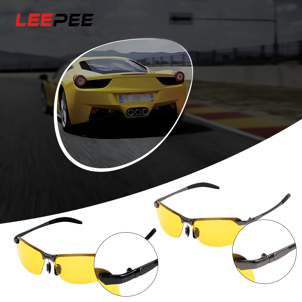 LEEPEE Car Driver Goggles Car Styling Night Vision Sun Glasses Polarized Sunglasses UV400 Driving Glasses  UV Protection Eyewear