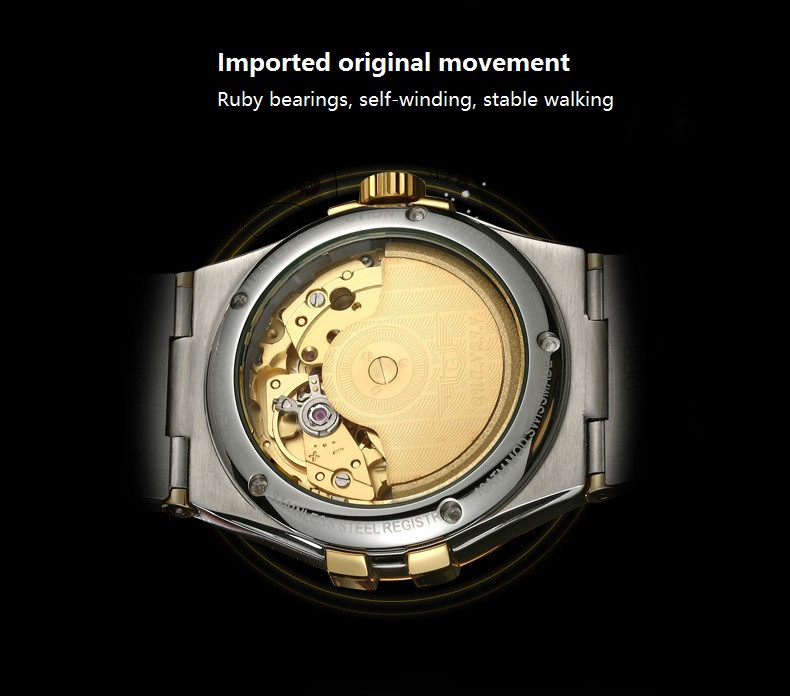GUANQIN Gold Couple Watches Men Automatic Mechanical Watch Women Quartz Watch Luxury Lover Watch Waterproof Fashion Wristwatches (6)