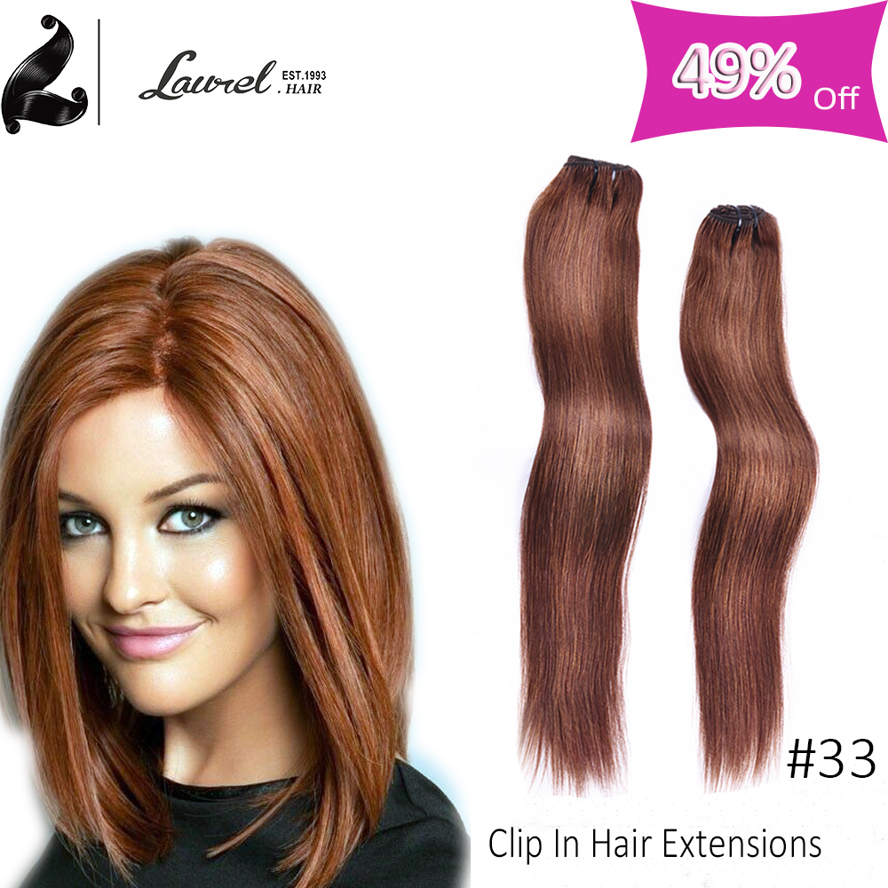 Laurel Hair Products Brazilian Straight Clip In Thick Human Hair Extensions 9 Colors 16″18″20″22″24″ Wholesale Price Silky Hair